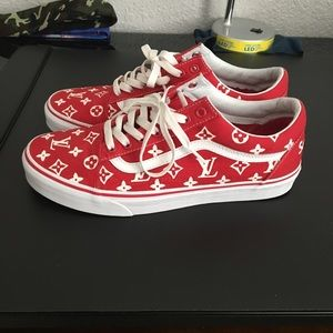 Vans Shoes - Supreme x Louis Vuitton Vans custom e8789a02e